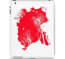 Forest Silhouette in Light Bright Red iPad Case/Skin