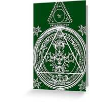 Arcane Circle Greeting Card