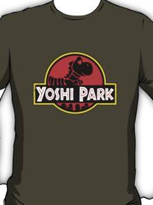 Super Mario World Yoshi Park Jurassic Park Distressed Tee T-Shirt