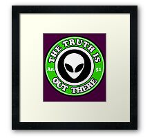 THE TRUTH IS OUT THERE - ALIEN HEAD Framed Print