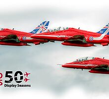 The Red Arrows - 50 Display Seasons Duvets, Cases etc by © Steve H Clark Photography