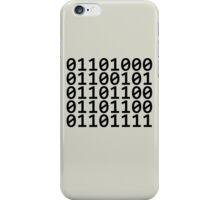 Binary - Black iPhone Case/Skin