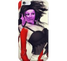 Girl and paint splash iPhone Case/Skin