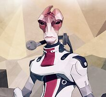 Low Polygon Mordin Solus by eple