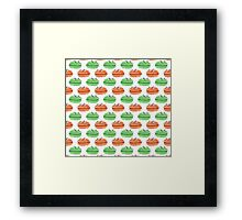 Macaron Pattern Framed Print