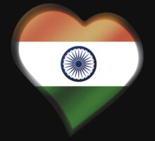 Indian Flag - India - Heart by graphix
