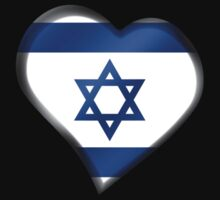 Israeli Flag - Israel - Heart by graphix