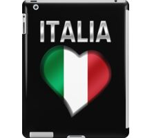 Italia - Italian Flag Heart & Text - Metallic iPad Case/Skin