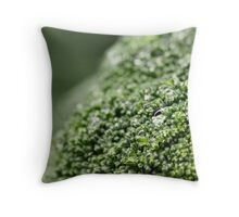 Broccoli Landscape Throw Pillow