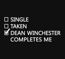 Dean Winchester Completes Me by DiogenesDamsel