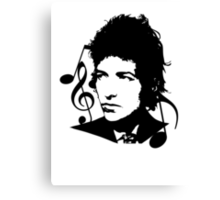 Bob Dylan - Stylized Canvas Print