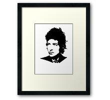 Bob Dylan - Stylized White Ver. Framed Print