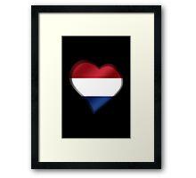 Dutch Flag - Netherlands - Heart Framed Print