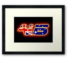 AUS - Australia Flag Logo - Glowing Framed Print