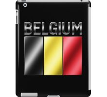 Belgium - Belgian Flag & Text - Metallic iPad Case/Skin