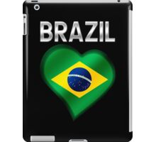 Brazil - Brazilian Flag Heart & Text - Metallic iPad Case/Skin