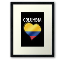Columbia - Columbian Flag Heart & Text - Metallic Framed Print
