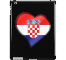 Croatian Flag - Croatia - Heart iPad Case/Skin