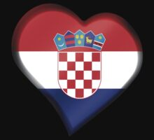 Croatian Flag - Croatia - Heart by graphix