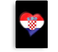 Croatian Flag - Croatia - Heart Canvas Print