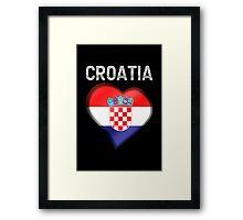 Croatia - Croatian Heart & Text - Metallic Framed Print