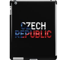 Czech Republic - Czech Flag - Metallic Text iPad Case/Skin