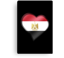Egyptian Flag - Egypt - Heart Canvas Print