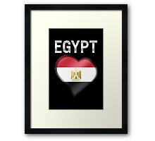 Egypt - Egyptian Flag Heart & Text - Metallic Framed Print