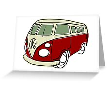 VW Type 2 bus red Greeting Card