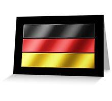 German Flag - Germany - Metallic Greeting Card