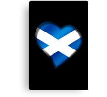 Scottish Flag - Scotland - Heart Canvas Print
