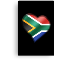 South African Flag - South Africa - Heart Canvas Print
