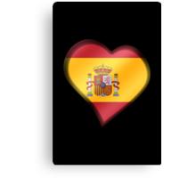 Spanish Flag - Spain - Heart Canvas Print