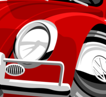 VW Beetle Convertible Cabriolet Sticker