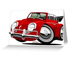 VW Beetle Convertible Cabriolet Greeting Card