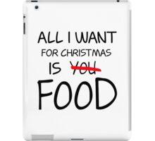 Christmas, Food, Funny, Hungry iPad Case/Skin