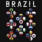 Brazil - World Football or Soccer - 2014 Groups - Brasil by graphix