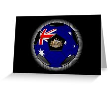 Australia - Australian Flag - Football or Soccer Greeting Card