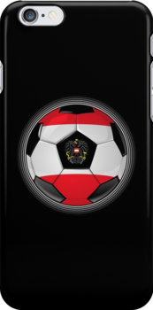 Austria - Austrian Flag - Football or Soccer by graphix