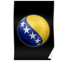 Bosnia and Herzegovina - Bosnian Flag - Football or Soccer 2 Poster