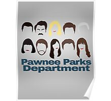 Pawnee Parks and Rec Crew Poster
