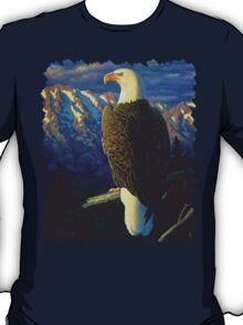 Morning Quest - Bald Eagle Oil Painting T-Shirt