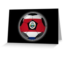 Costa Rica - Costa Rican Flag - Football or Soccer Greeting Card