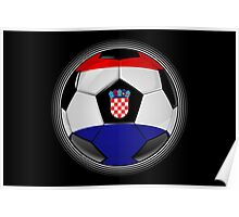 Croatia - Croatian Flag - Football or Soccer Poster