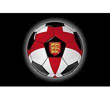 England - English Flag - Football or Soccer Photographic Print