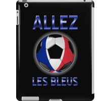 Allez Les Bleus - French Football & Text - Metallic iPad Case/Skin