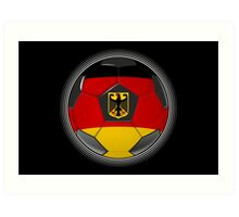 Germany - German Flag - Football or Soccer Art Print