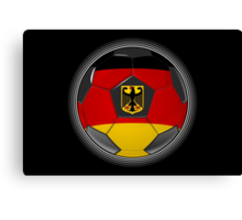 Germany - German Flag - Football or Soccer Canvas Print