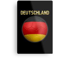 Deutschland - German Flag - Football or Soccer Ball & Text 2 Metal Print