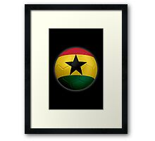 Ghana - Ghanaian Flag - Football or Soccer 2 Framed Print